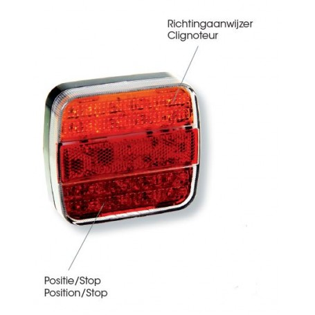 Feu arrière LED (avec éclaireur de plaque)