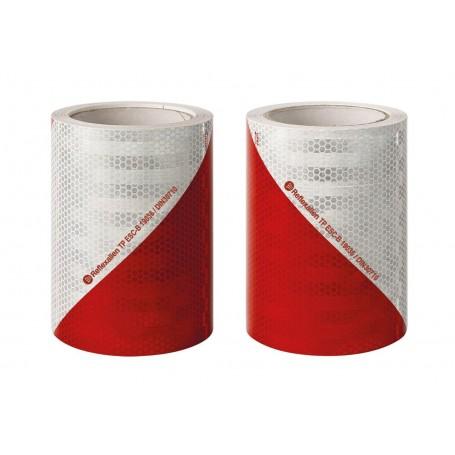 Set rouleaux Chevron Rouge/Blanc Classe B