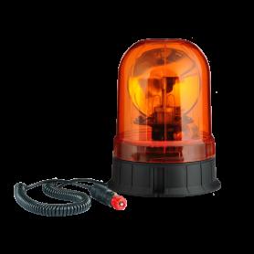 Gyrophare ORANGE MAGNETIQUE 12/24V + ampoule