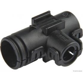 Pièce de raccord forme de T noir (x10) / 10mm-7.5mm