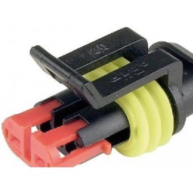 Boitier de connecteur 2 poles douille plate x50