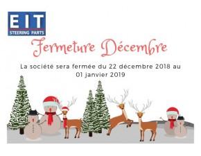 Fermeture de fin d'année / Winter closure
